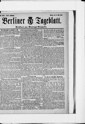 Berliner Tageblatt und Handels-Zeitung vom 11.05.1896