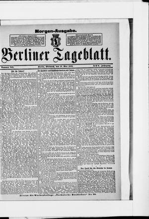 Berliner Tageblatt und Handels-Zeitung on May 13, 1896