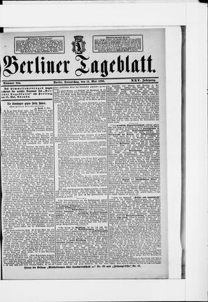 Berliner Tageblatt und Handels-Zeitung vom 14.05.1896