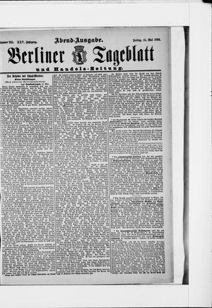 Berliner Tageblatt und Handels-Zeitung vom 15.05.1896
