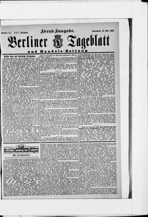 Berliner Tageblatt und Handels-Zeitung on May 16, 1896