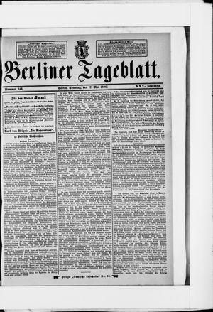 Berliner Tageblatt und Handels-Zeitung vom 17.05.1896