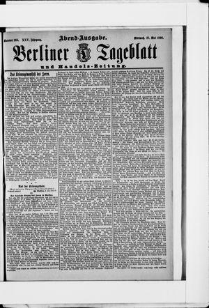 Berliner Tageblatt und Handels-Zeitung vom 27.05.1896