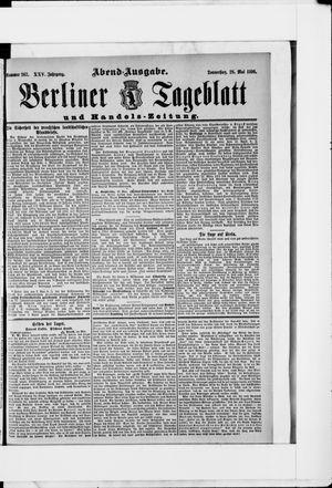 Berliner Tageblatt und Handels-Zeitung vom 28.05.1896