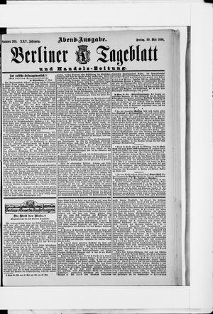 Berliner Tageblatt und Handels-Zeitung vom 29.05.1896