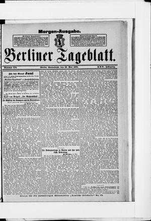 Berliner Tageblatt und Handels-Zeitung on May 30, 1896