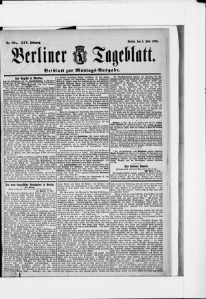 Berliner Tageblatt und Handels-Zeitung vom 01.06.1896
