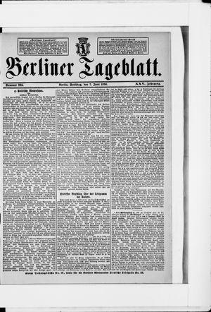 Berliner Tageblatt und Handels-Zeitung vom 07.06.1896