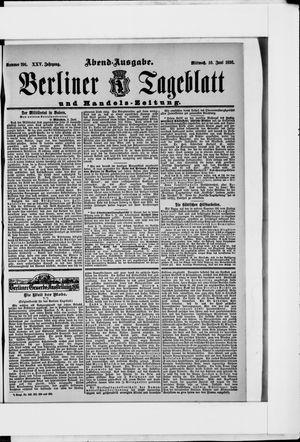Berliner Tageblatt und Handels-Zeitung vom 10.06.1896