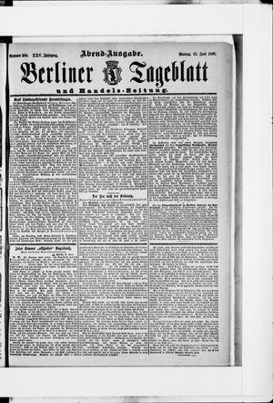 Berliner Tageblatt und Handels-Zeitung vom 15.06.1896