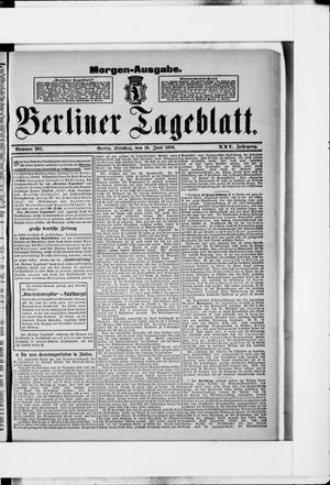 Berliner Tageblatt und Handels-Zeitung vom 16.06.1896