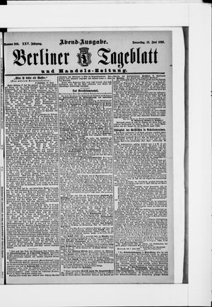 Berliner Tageblatt und Handels-Zeitung vom 18.06.1896