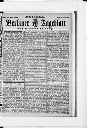 Berliner Tageblatt und Handels-Zeitung vom 19.06.1896