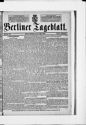 Berliner Tageblatt und Handels-Zeitung vom 21.06.1896