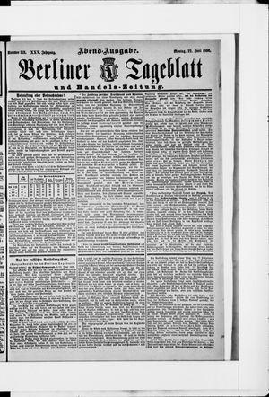 Berliner Tageblatt und Handels-Zeitung vom 22.06.1896