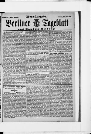 Berliner Tageblatt und Handels-Zeitung vom 23.06.1896