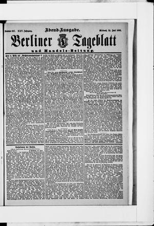 Berliner Tageblatt und Handels-Zeitung vom 24.06.1896