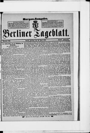 Berliner Tageblatt und Handels-Zeitung vom 26.06.1896