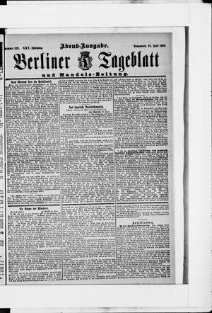 Berliner Tageblatt und Handels-Zeitung vom 27.06.1896