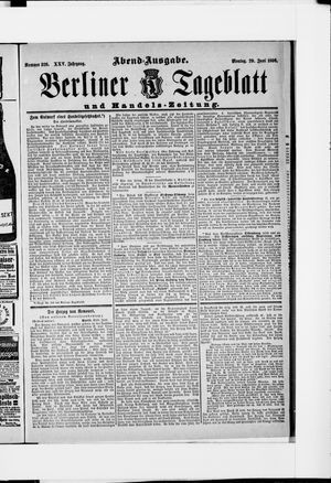 Berliner Tageblatt und Handels-Zeitung vom 29.06.1896