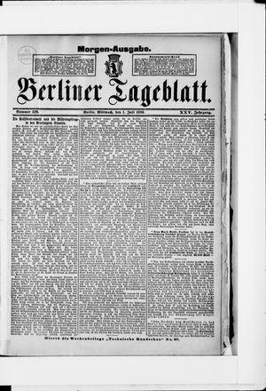 Berliner Tageblatt und Handels-Zeitung vom 01.07.1896