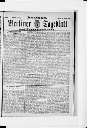Berliner Tageblatt und Handels-Zeitung vom 04.01.1898