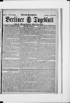 Berliner Tageblatt und Handels-Zeitung vom 06.01.1898