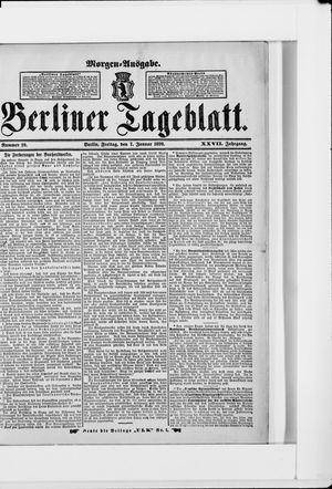 Berliner Tageblatt und Handels-Zeitung vom 07.01.1898