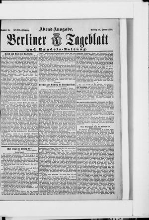 Berliner Tageblatt und Handels-Zeitung vom 10.01.1898