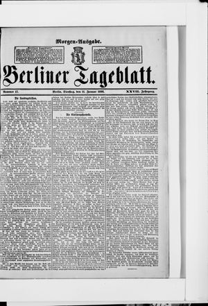 Berliner Tageblatt und Handels-Zeitung vom 11.01.1898