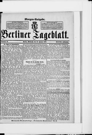 Berliner Tageblatt und Handels-Zeitung vom 12.01.1898