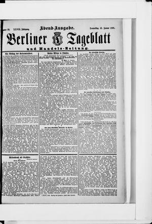 Berliner Tageblatt und Handels-Zeitung vom 13.01.1898
