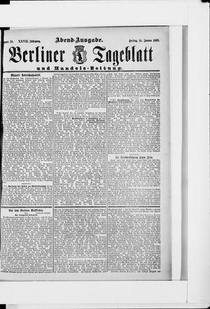Berliner Tageblatt und Handels-Zeitung vom 14.01.1898