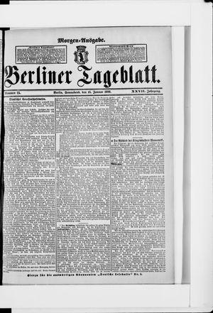 Berliner Tageblatt und Handels-Zeitung vom 15.01.1898