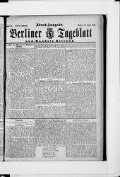Berliner Tageblatt und Handels-Zeitung (17.01.1898)