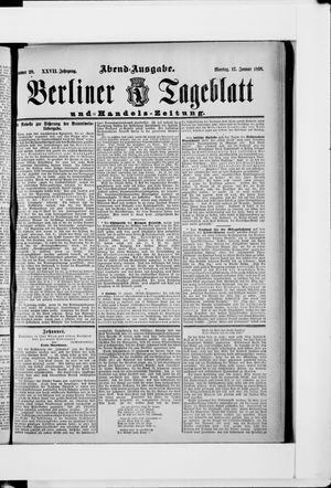 Berliner Tageblatt und Handels-Zeitung vom 17.01.1898