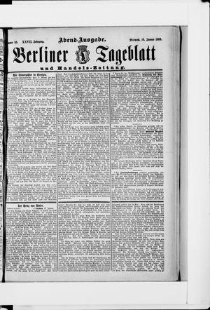 Berliner Tageblatt und Handels-Zeitung vom 19.01.1898
