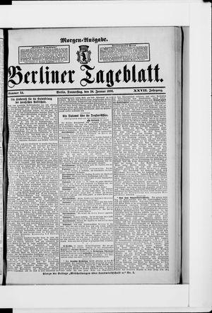 Berliner Tageblatt und Handels-Zeitung vom 20.01.1898