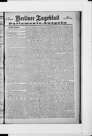 Berliner Tageblatt und Handels-Zeitung vom 22.01.1898