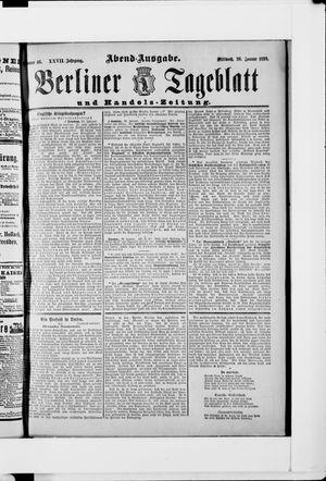 Berliner Tageblatt und Handels-Zeitung vom 26.01.1898
