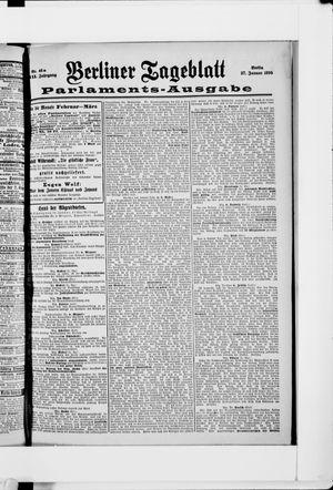 Berliner Tageblatt und Handels-Zeitung vom 27.01.1898