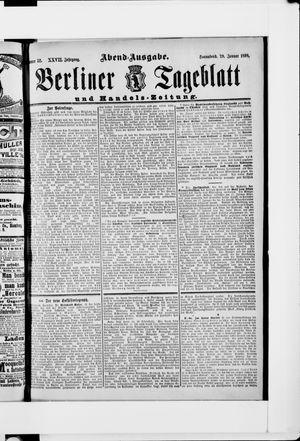 Berliner Tageblatt und Handels-Zeitung vom 29.01.1898