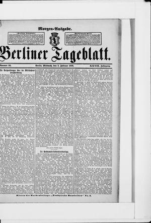 Berliner Tageblatt und Handels-Zeitung vom 02.02.1898
