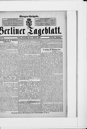 Berliner Tageblatt und Handels-Zeitung vom 03.02.1898