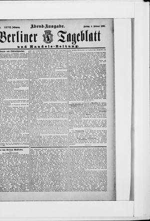 Berliner Tageblatt und Handels-Zeitung vom 04.02.1898