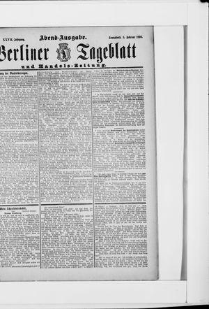 Berliner Tageblatt und Handels-Zeitung vom 05.02.1898
