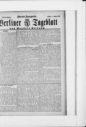 Berliner Tageblatt und Handels-Zeitung vom 08.02.1898