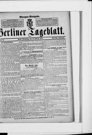 Berliner Tageblatt und Handels-Zeitung vom 10.02.1898