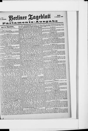 Berliner Tageblatt und Handels-Zeitung on Feb 11, 1898