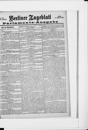 Berliner Tageblatt und Handels-Zeitung vom 12.02.1898